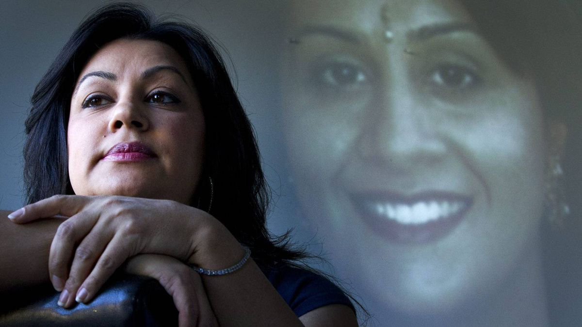 Jasmine Bhambra at her home in Abbotsford February 18, 2011 is the sister of Manjit Panghali. Manjit was killed in 2006 when she was four months pregnant, by her husband, Mukhtiar who was convicted of second-degree murder.