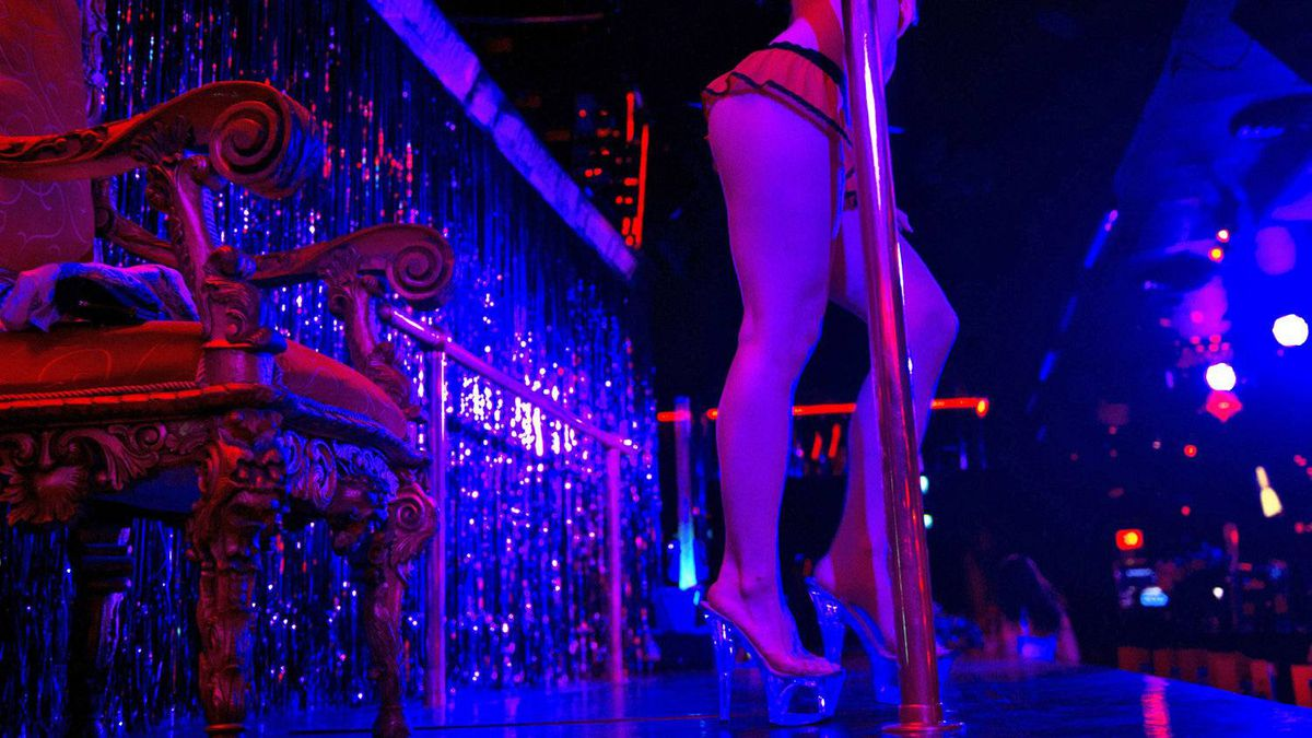 An exotic dancer takes the stage at a Toronto strip club in Oct. 14, 2010.
