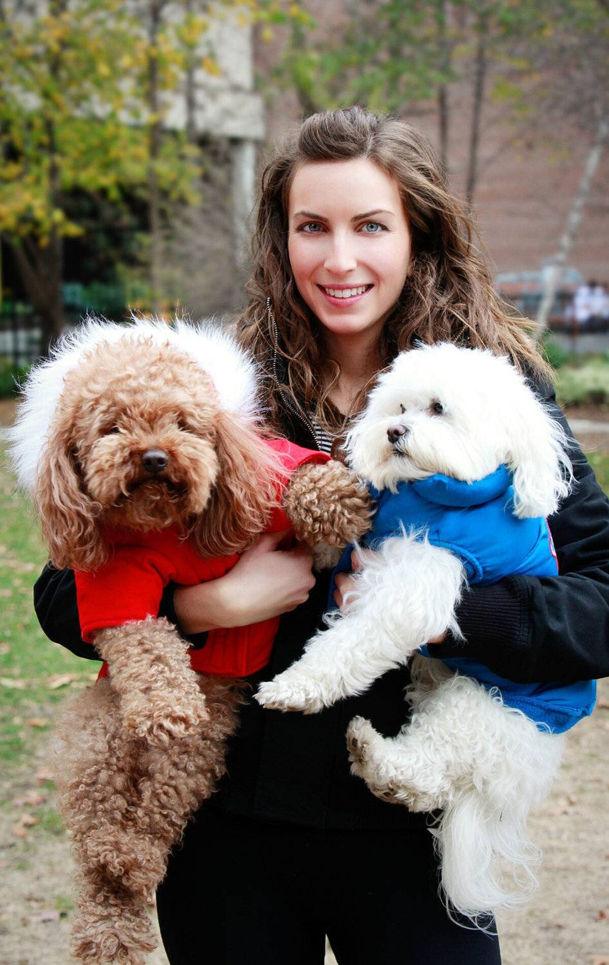 Canada Pooch owner Jacqueline Prehogan with her two furry friends, Kelev and Copper.