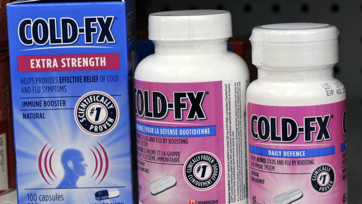 Cold-FX products made by Afexa Life Sciences Inc are shown on a drug store shelf in Toronto August 25, 2011.
