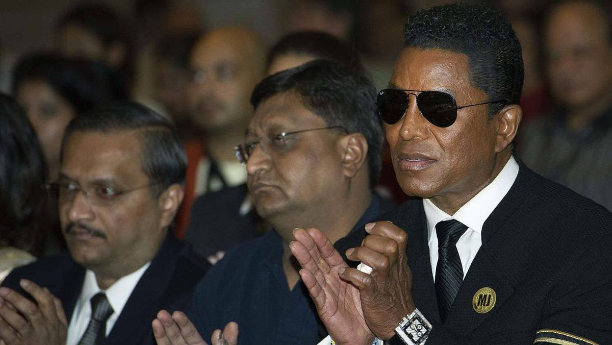 Jermaine Jackson, right, at the 2011 International Indian Film Academy press conference in Toronto on Thursday, June. 23.