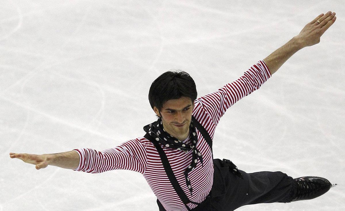 Samuel Contesti of Italy performs during the men's free skating event at the ISU World Figure Skating Championships in Nice March 31, 2012.