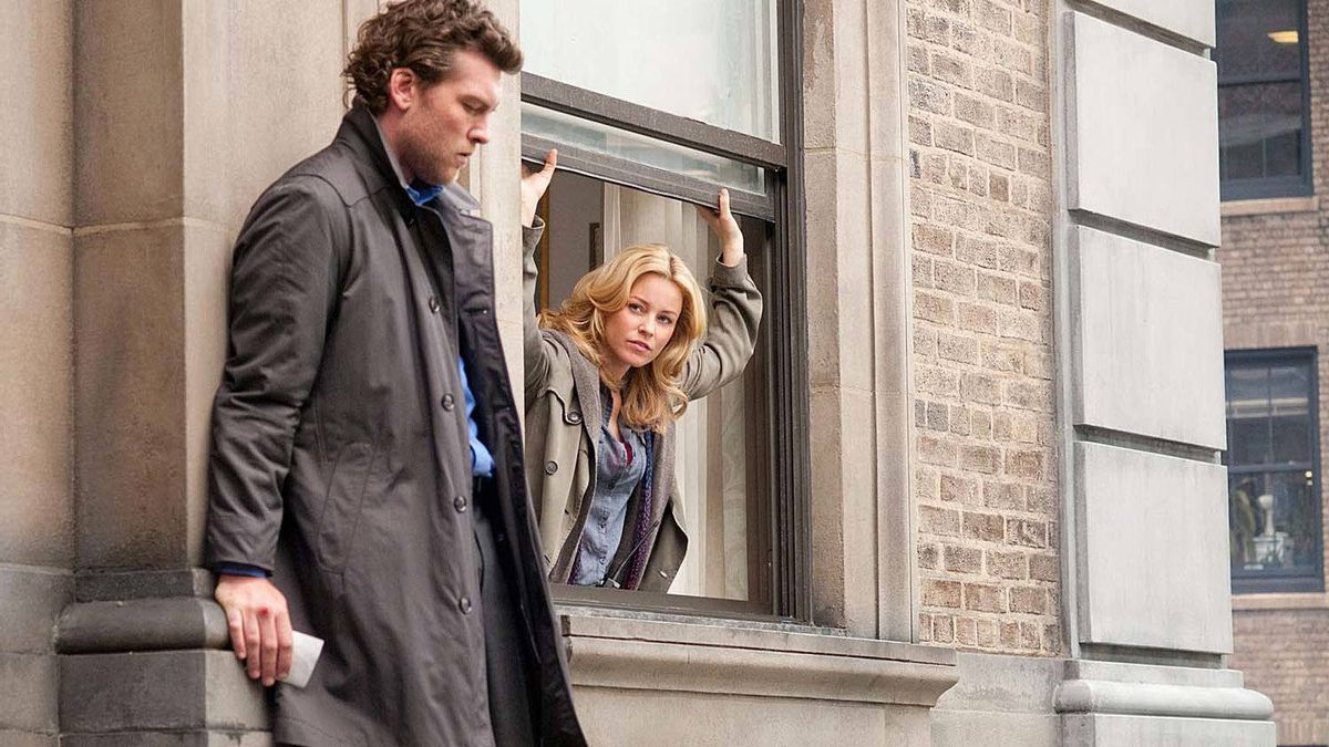 "Sam Worthington and Elizabeth Banks in a scene from ""Man on a Ledge"""