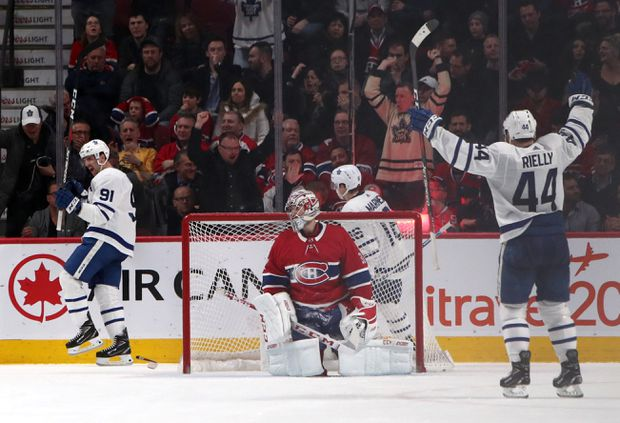 John Tavares Scores In Ot Leafs Beat Canadiens 4 3 For Fourth Straight Win The Globe And Mail