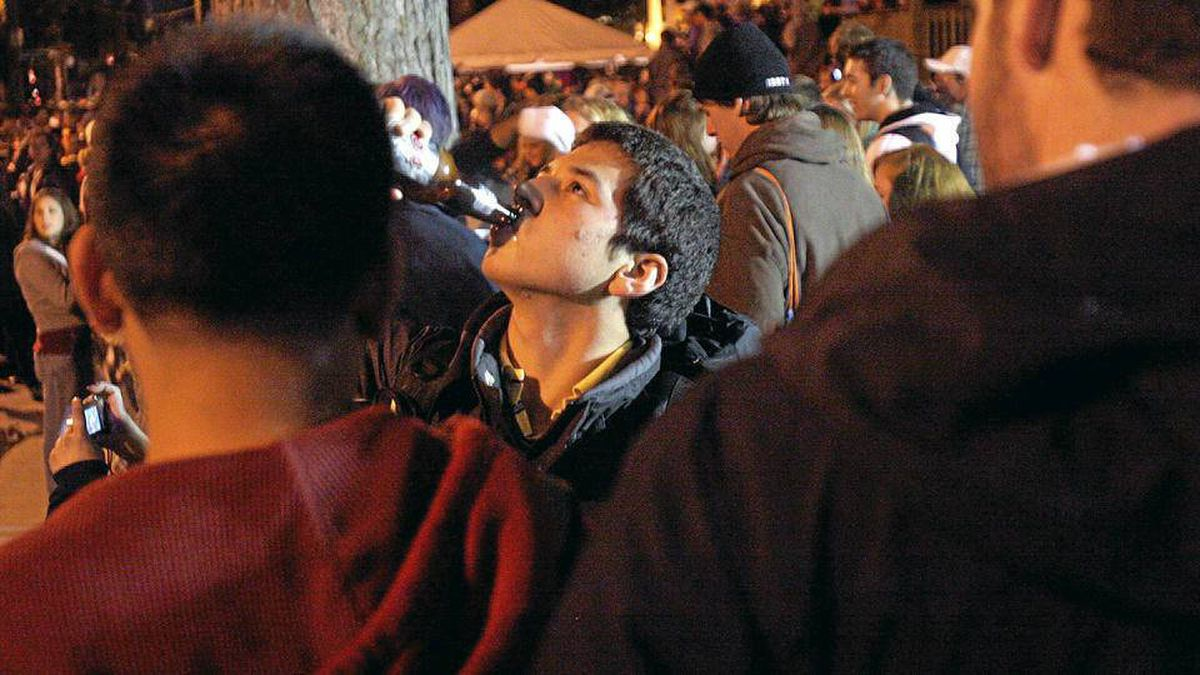 Liquor flowed freely during homecoming celebrations at Queen's University in Kingston in 2005.
