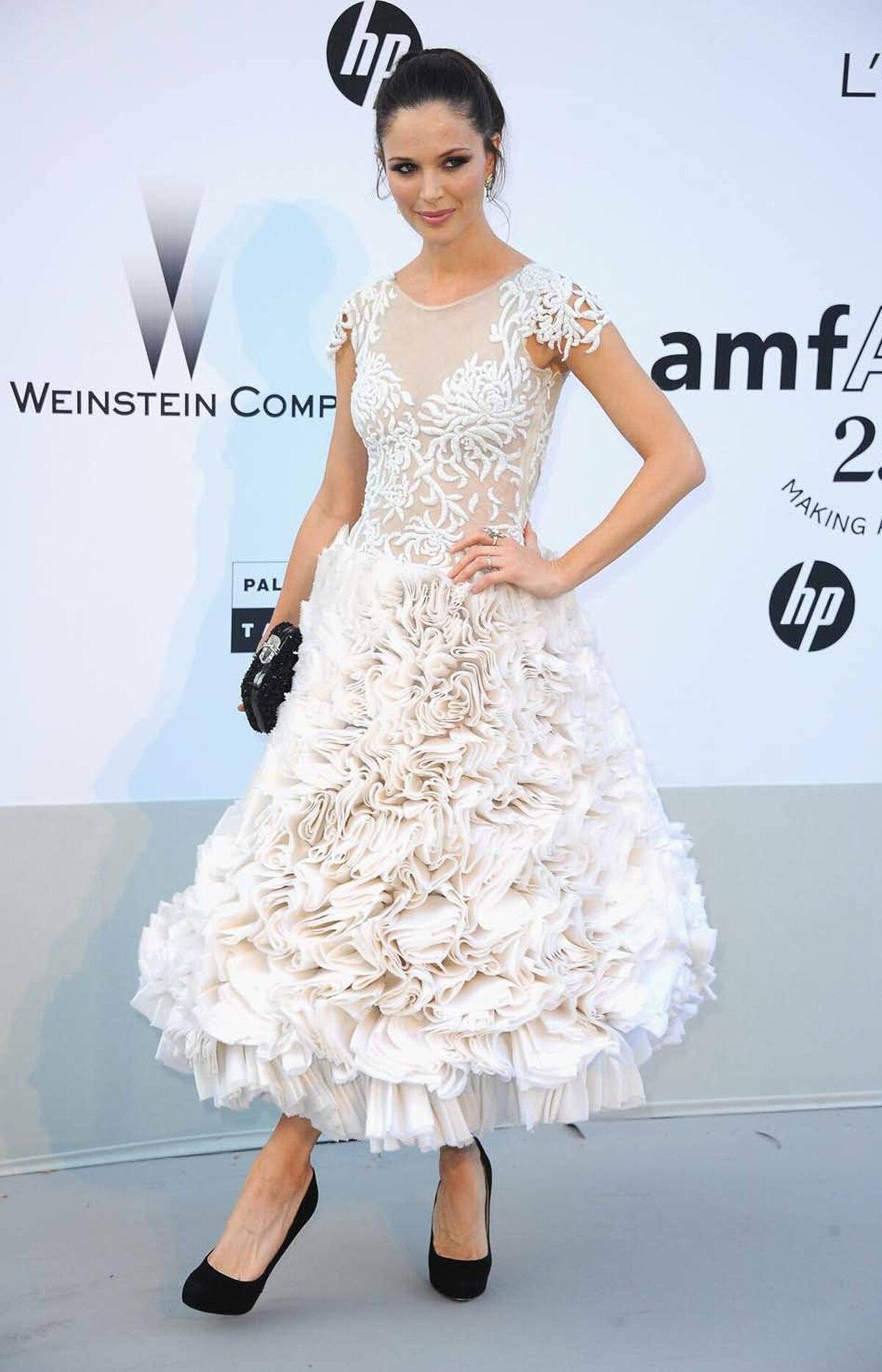 Georgina Chapman attends amfAR's Cinema Against AIDS Gala at the Cannes Film Festival on Thursday.