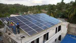 The hospital's solar power system – made up of solar panels to harness the energy and deep-cycle batteries for storage – provides electricity for the hospital's lighting, lab equipment, refrigerators, computers and satellite communications systems around the clock.