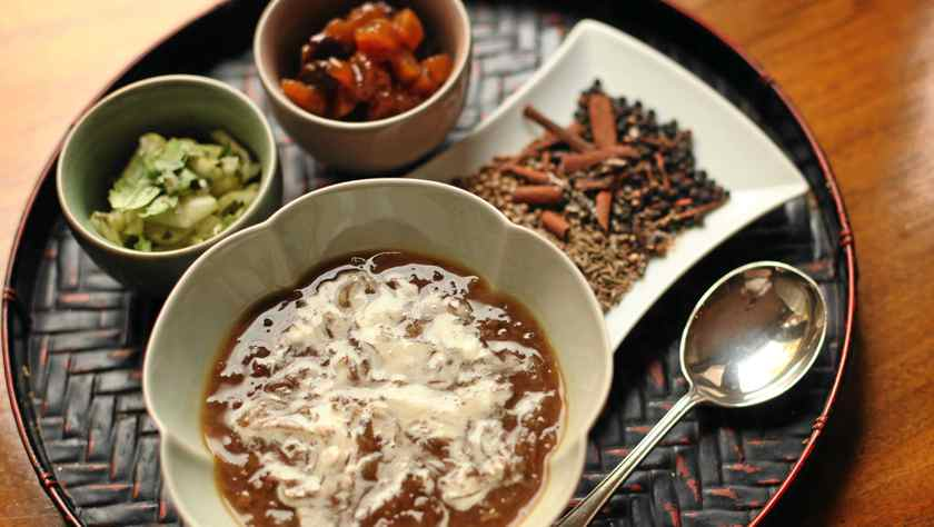 Lucy Waverman's spiced onion and lentil soup.