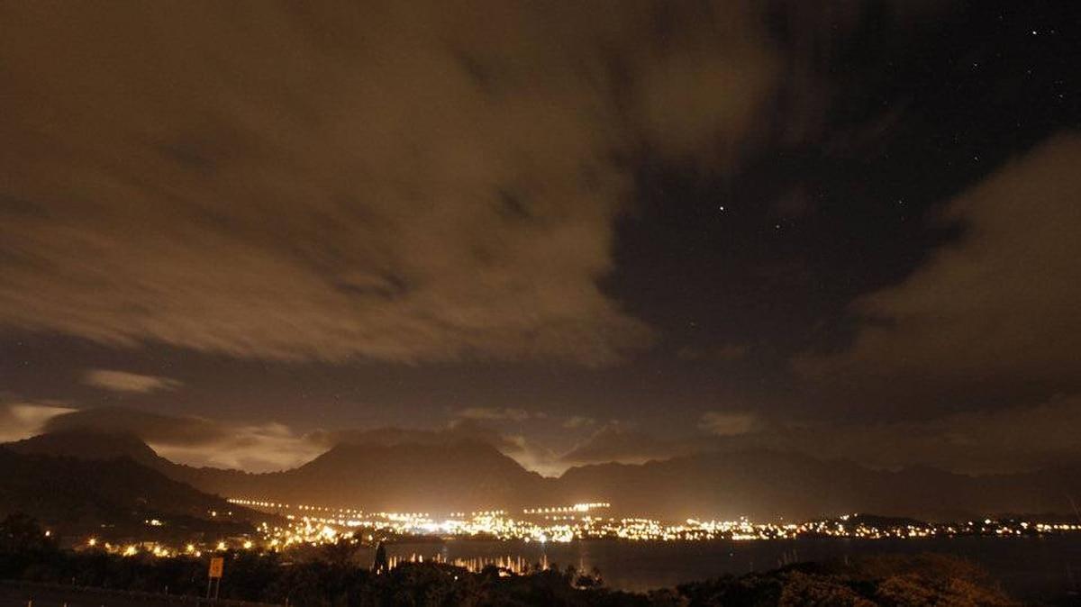 The Koolau Mountains can be seen behind Kaneohe Bay, Hawaii, December 30, 2011.