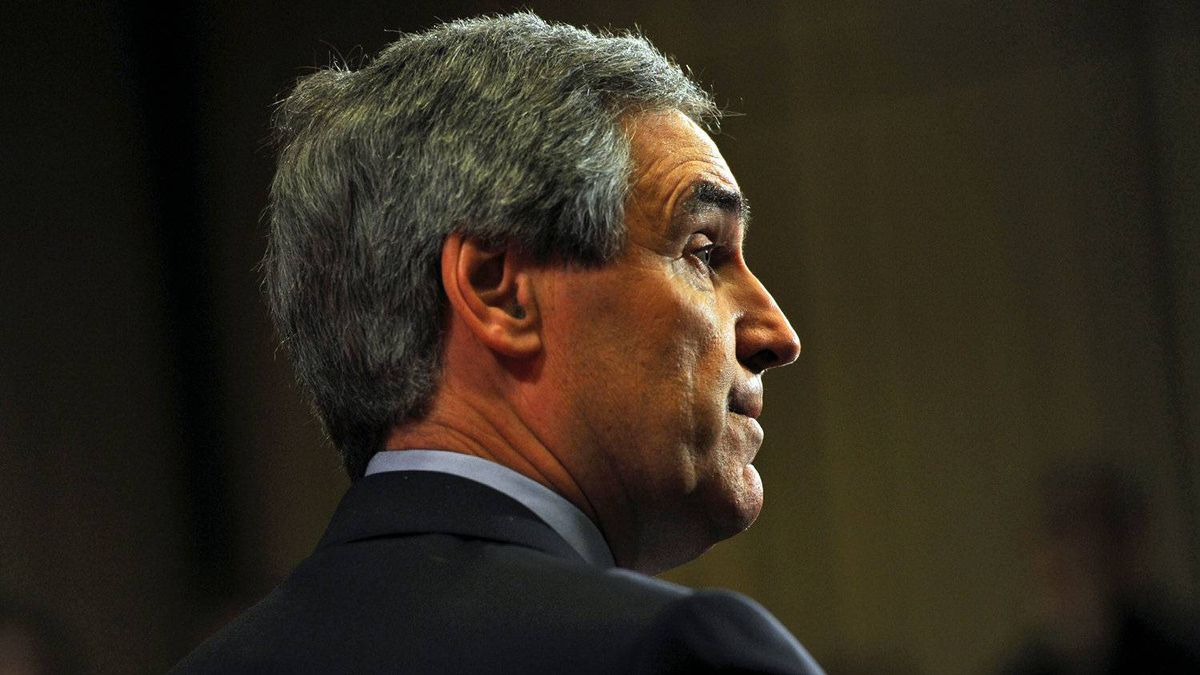 Michael Ignatieff announces his resignation as Liberal Leader at a post-election news conference in Toronto on May 3, 2011.