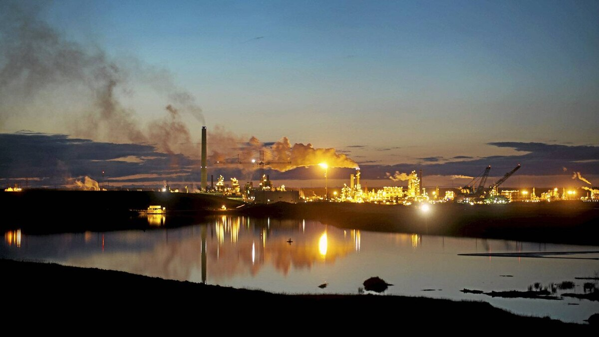 Syncrude's oil sands plant north at Mildred Lake north of Fort McMurray, Alta.