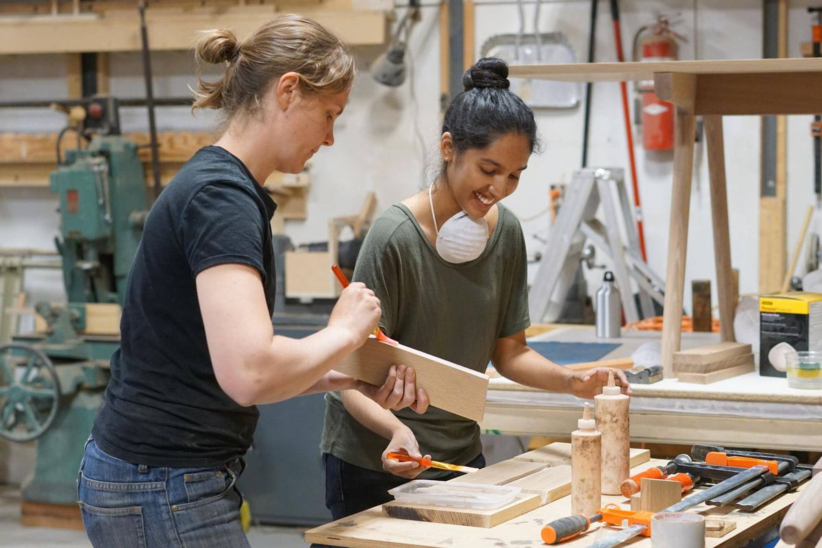 Junction Workshop  Toronto Class Instructs Students In The Ways Of Woodworking