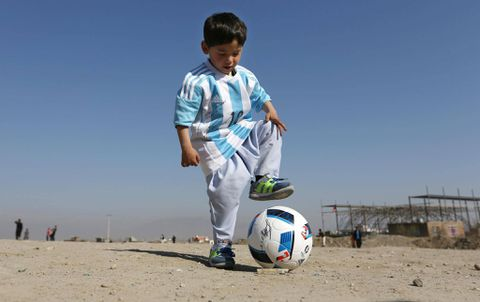 Threats force five-year-old Messi fan out of Afghanistan
