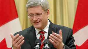 Canada's Prime Minister Stephen Harper speaks during a news conference following a cabinet shuffle at Rideau Hall in Ottawa January 4, 2011.