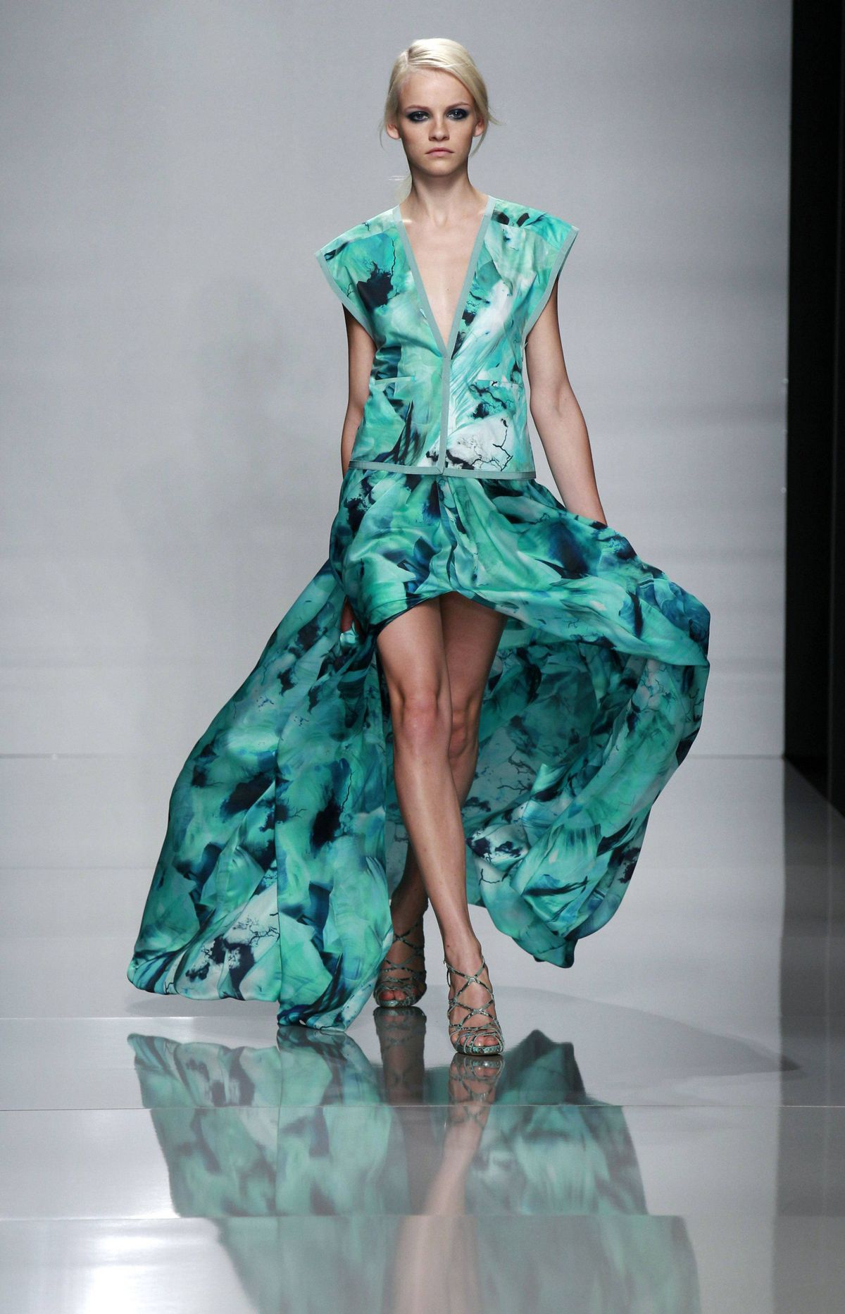 Ungaro Spring/Summer 2012 ready-to-wear collection Pity Ungaro, a venerable label that has suffered from designer turnover (ahem, Lindsay Lohan) and what appears to be internal creative tension. Jeanne Labib-Lamour, 29, took the bow on Monday, having been named chief designer, less than a month after Brit Giles Deacon ended his stint.