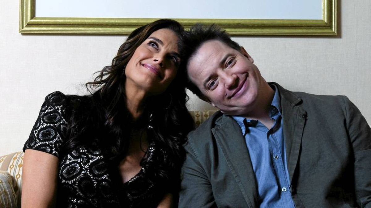 Brooke Shields and Brendan Fraser are on a tour promoting their film Furry Vengeance.