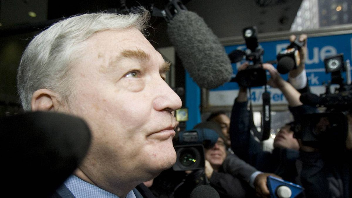 A file photo of Conrad Black in December, 2007.