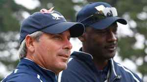 Fred Couples and Michael Jordan