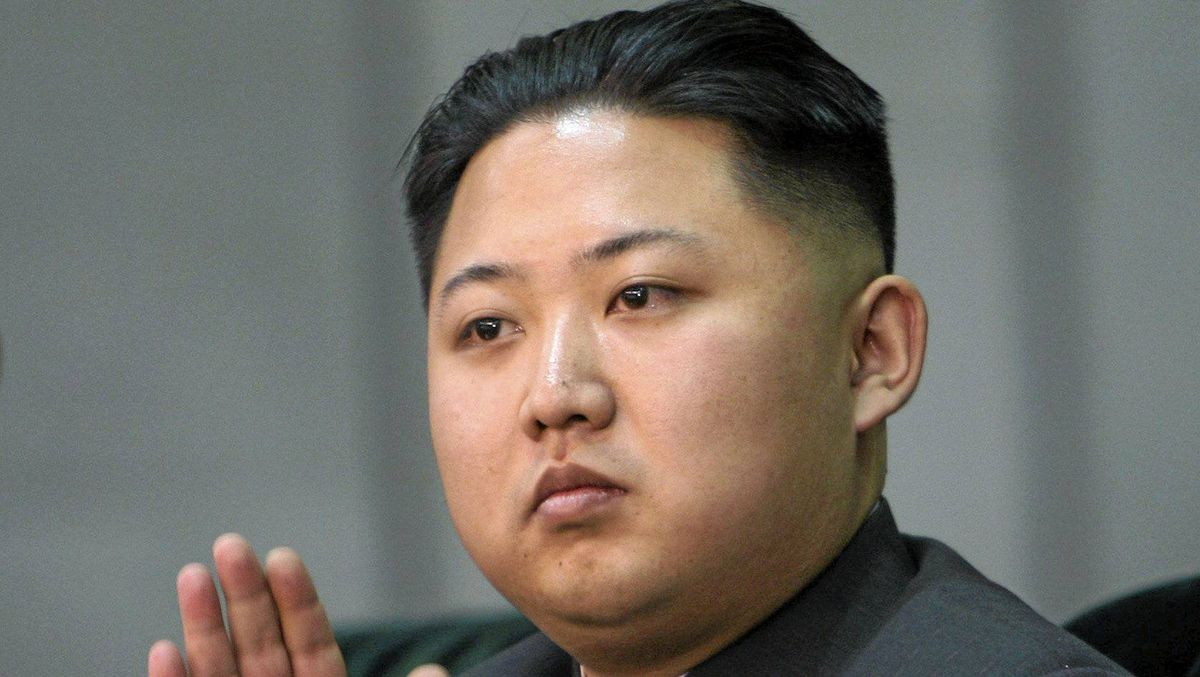 In this Oct. 9, 2010 file photo released by China's Xinhua News Agency, Kim Jong Un, the third son of North Korean leader Kim Jong Il, applauds while watching the Arirang mass games performance staged to celebrate the 65th anniversary of the founding of the Workers' Party of Korea, in Pyongyang, North Korea.