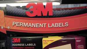 In this April 25, 2012 file photo, 3M's address labels are displayed for sale at Office Depot in Mountain View, Calif.