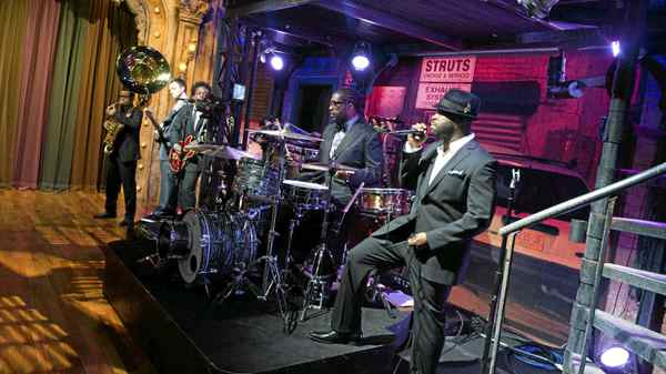 Hip hop band The Roots rehearse at NBC Studios, Thursday, Feb. 19, 2009 in New York.