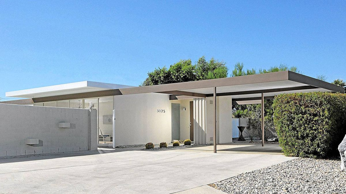 Brian McGuire's prefabricated steel house in Palm Springs, Calif., designed in 1961 by architects Donald Wexler and Ric Harrison. In March, it became the first postwar structure recognized by the U.S. National Register of Historic Places.