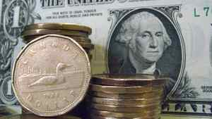 Canadian dollar coins are shown alongside the U.S. dollar.