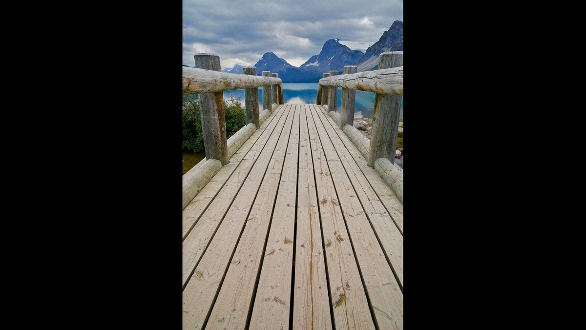 Barbara Dorota Karpowicz photo: Bridge to Bow Lake - The photo was taken at Bow Lake, Banff National Park (July, 2009)
