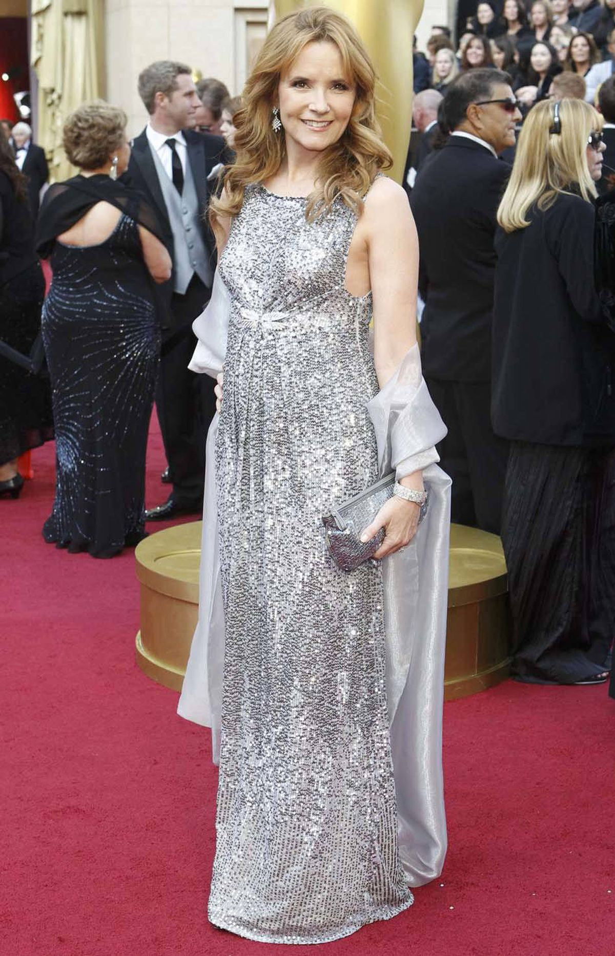 Lea Thompson on the red carpet