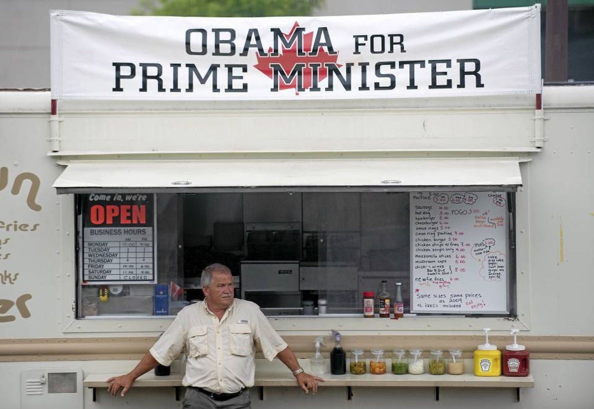 John Niedzwiecki stands next to his chip truck in Huntsville, Ont., Saturday, June 26, 2010, as the G8 summit ends at the nearby Deerhurst Resort.
