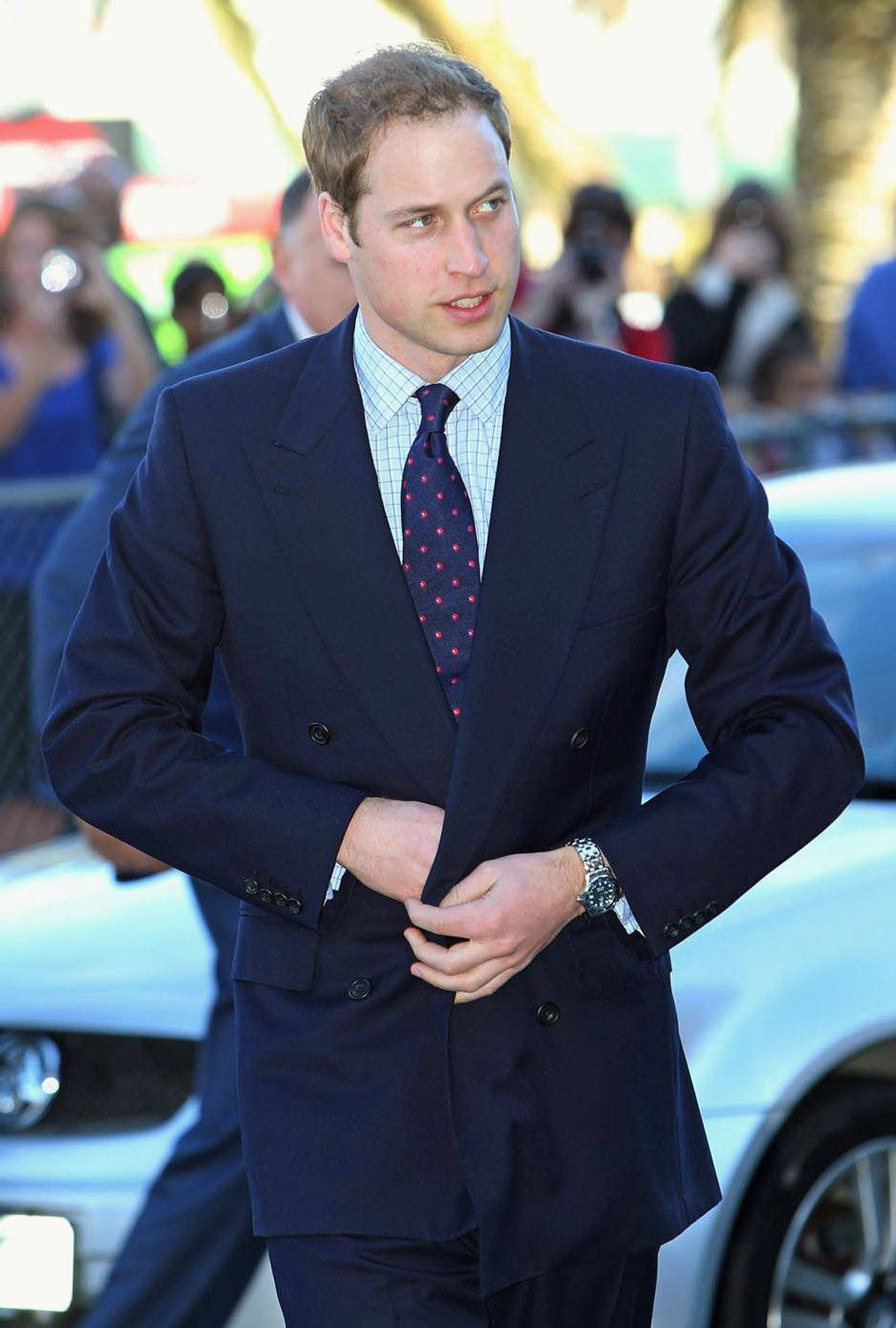 Prince William prepares to tour a hospital in Wellington, N.Z., Jan. 19, 2010.