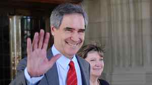 Outgoing Liberal leader Michael Ignatieff exits Parliament Hill after saying goodbye to politics and his party on May 12, 2012.