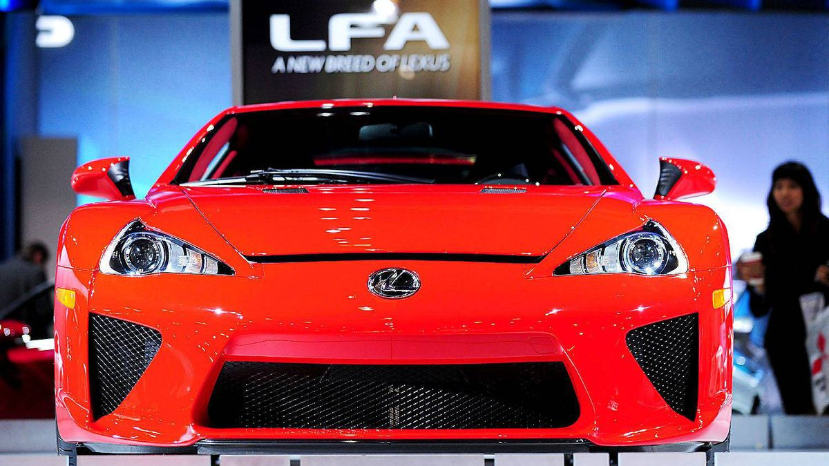 Lexus LFA supercar at the Los Angeles Auto Show