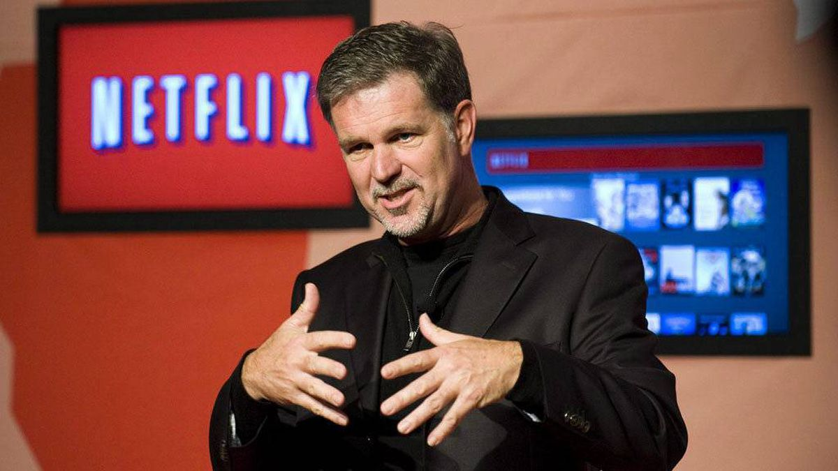 Reed Hastings, CEO of Netflix, announces Netflix's expansion to Canada in Toronto, on Wednesday, September 22, 2010. Netflix says Canadian Internet providers are using data caps to inflate their profits, not provide better service.