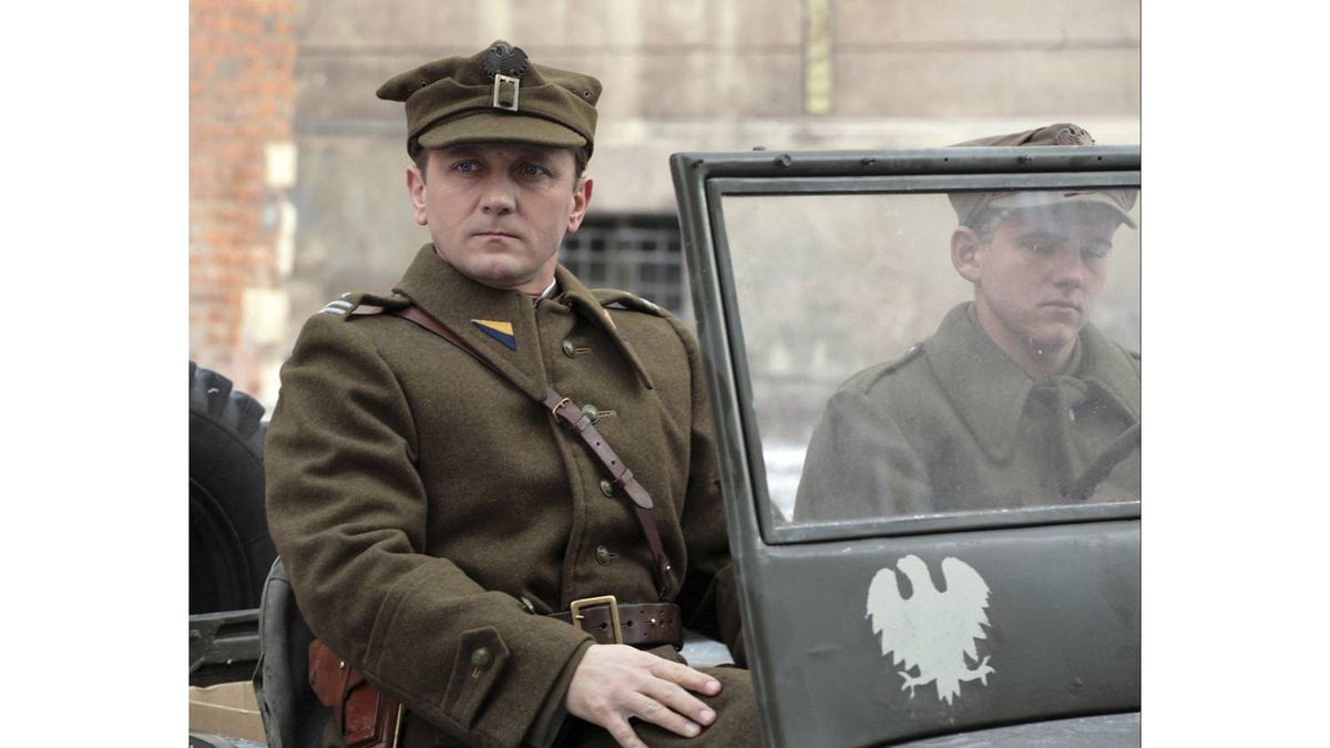 Andrzej Chyra stars as Lt. Jerzy in Polish director Andrzej Wajda's film Katyn, about the massacre of 20,000 men at the hands of the Soviets in 1940.