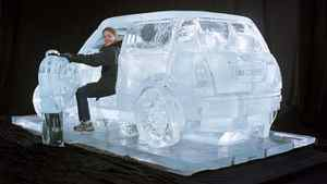 Iceculture Inc. created this scale model of a Mini Cooper out of ice.