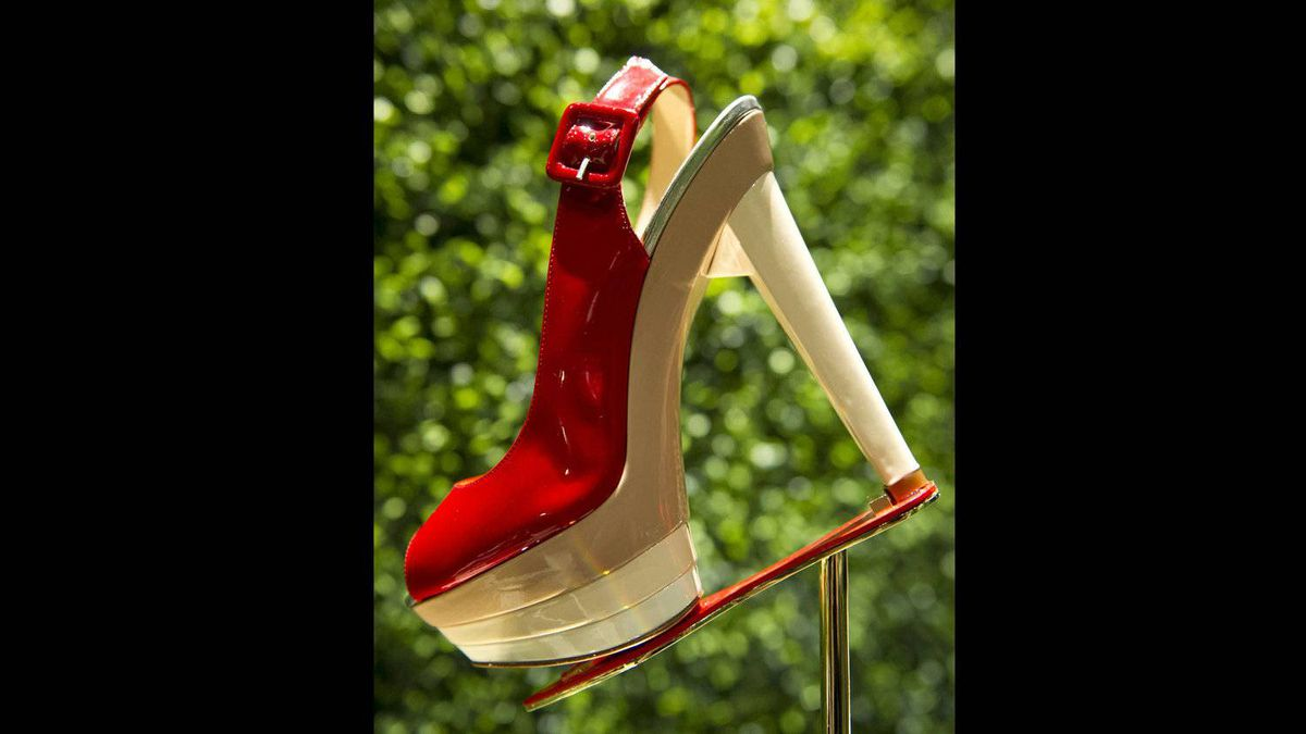 Low heels can sometimes be attractive, he said, but comfort is clearly not one of his priorities.