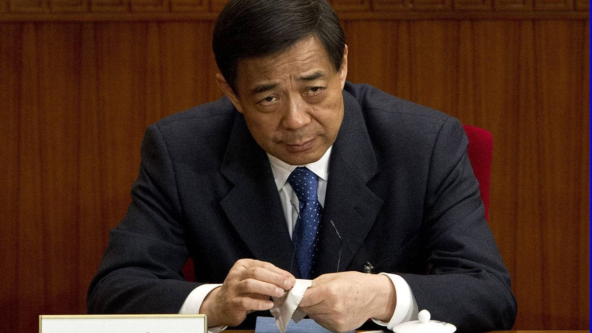Chongqing party secretary Bo Xilai attends a plenary session of the National People's Congress in Beijing on March 11, 2012.