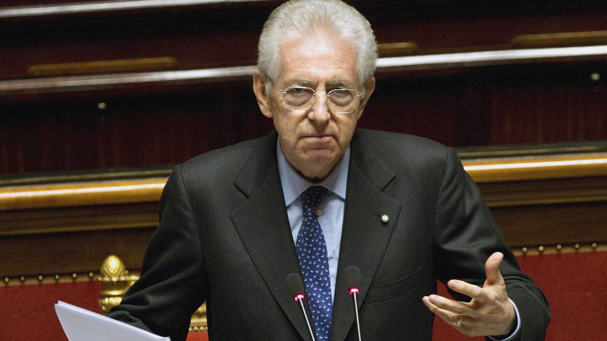Italian Premier Mario Monti unveils his anti-crisis strategy ahead of a confidence vote in his day-old government at the Senate in Rome Thursday, Nov. 17, 2011.