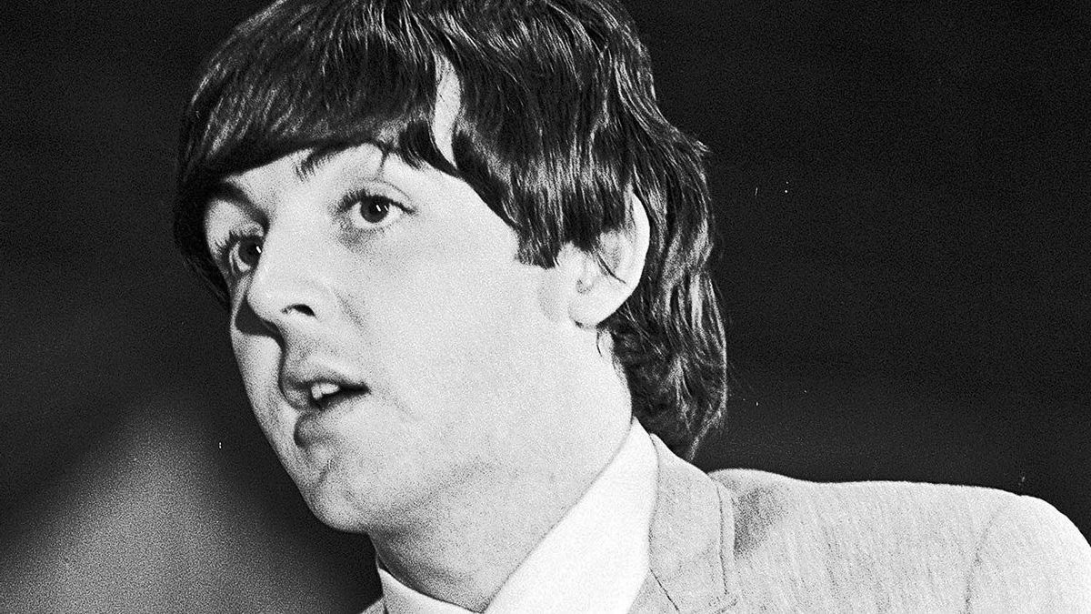 Paul McCartney at a press conference at Toronto's Maple Leaf Gardens, Sept. 7, 1964.