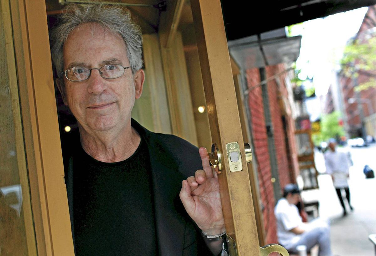 Peter Carey poses for a photograph in New York City's Soho neighborhood, April 19, 2010.