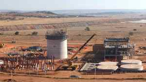 A Uranium One processing plant. The miner reported on Monday, May 7, 2012 that its first-quarter earnings fell to $4.5 million as it reported increased production, but lower uranium prices and a hedging-related charge.