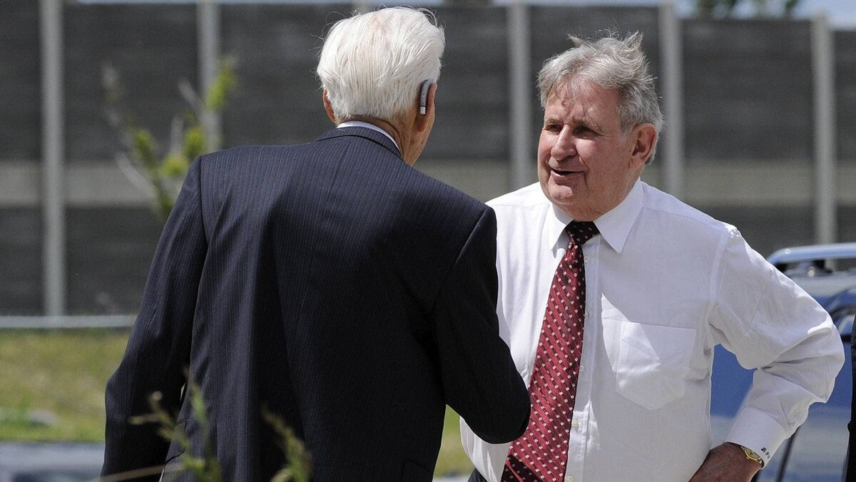 Mr. Klein arrives at the funeral for former Calgary Flames owner Harley Hotchkiss in Calgary, Alberta, on June 29, 2011.
