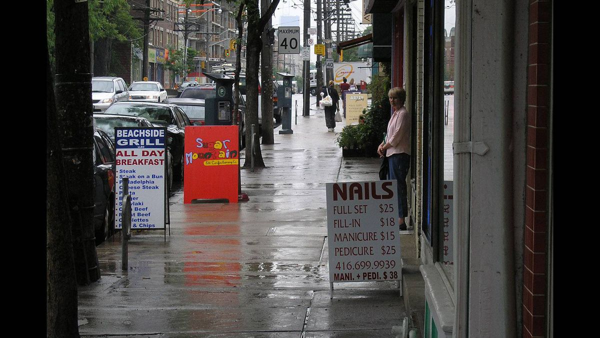 Tony R. Wagstaff photo: Showers on the street - Just a wet day on one of Toronto's many streets.