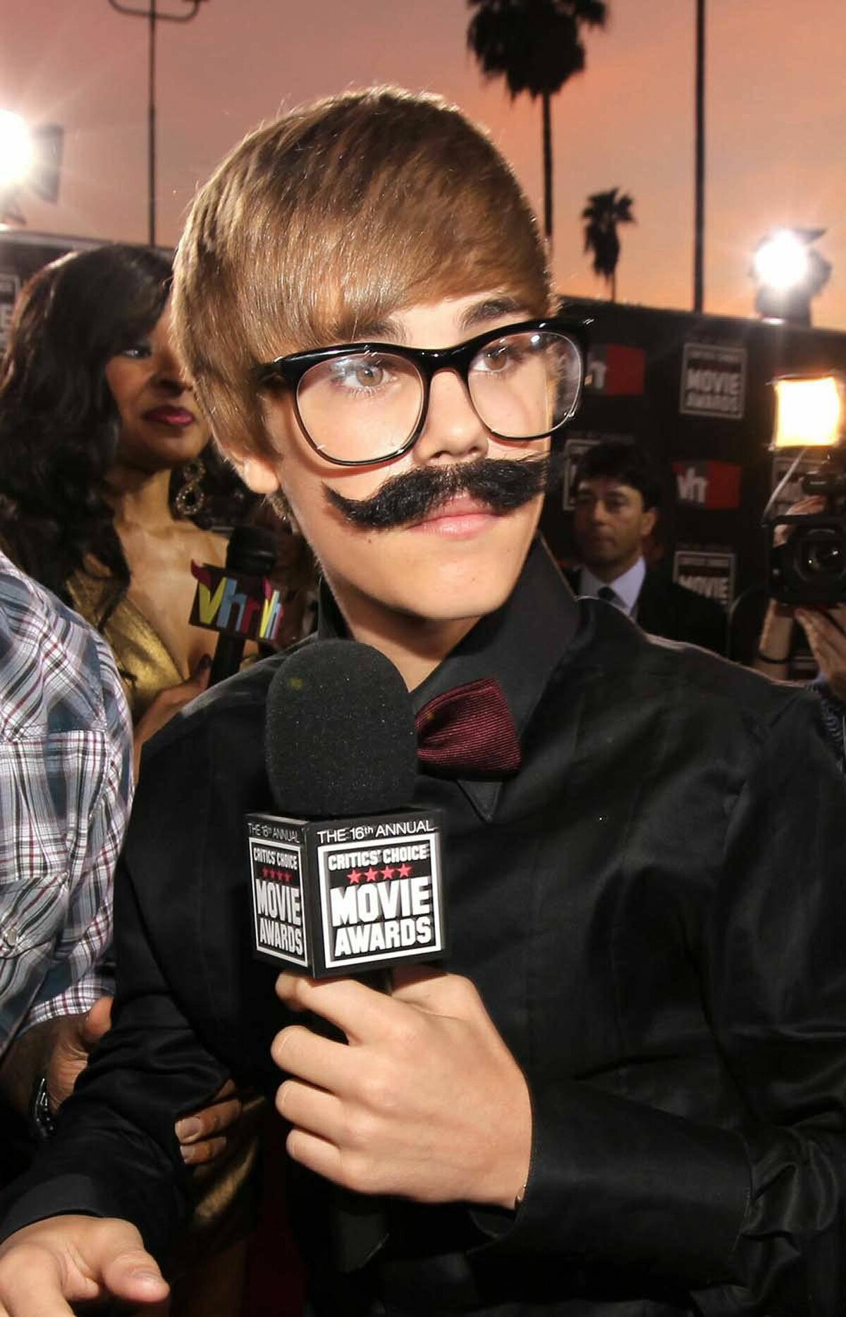On Jan. 14, Bieber unveiled his first facial hair at the Critics' Choice Movie Awards in Los Angeles.