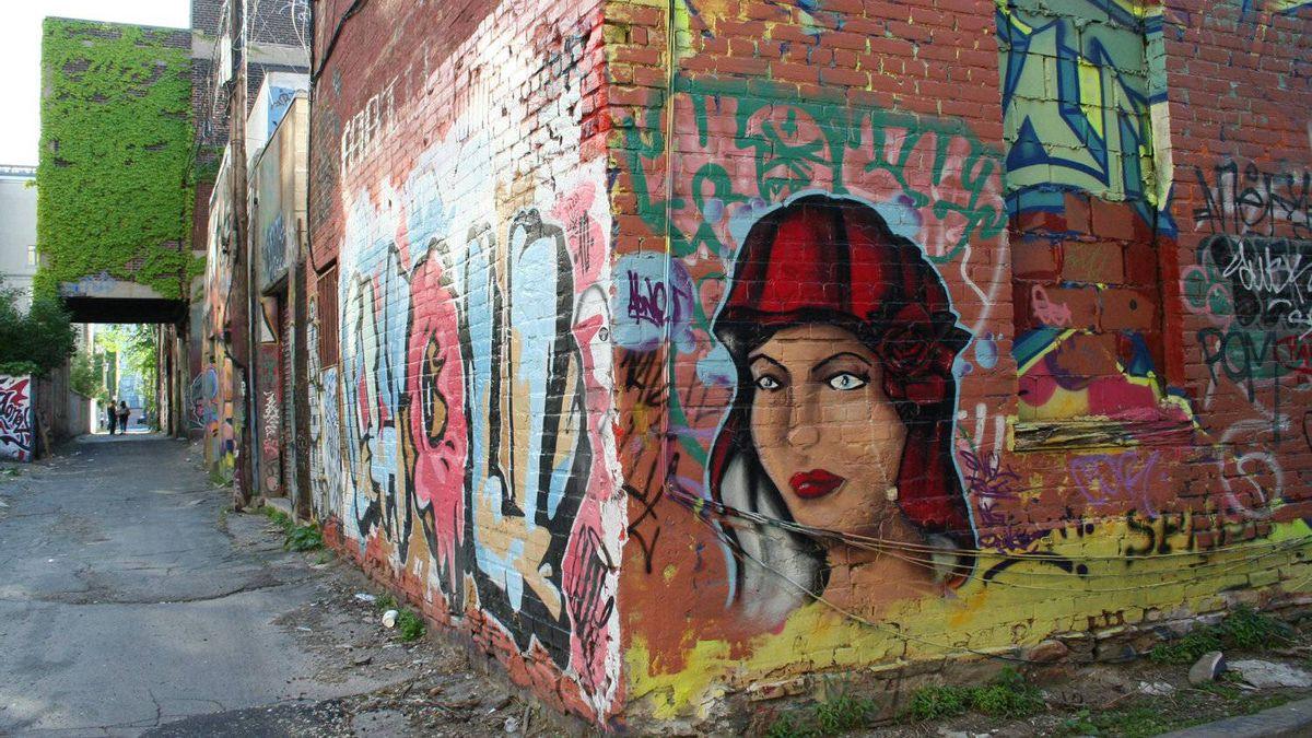 Grafitti in Queen Street alleys, Toronto, June, 2011.