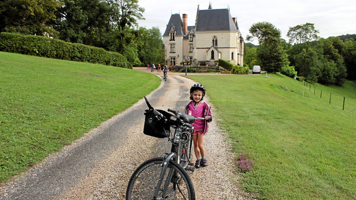 One of best hotels on our bike tour is the Château de Brou in the Loire Valley of France.