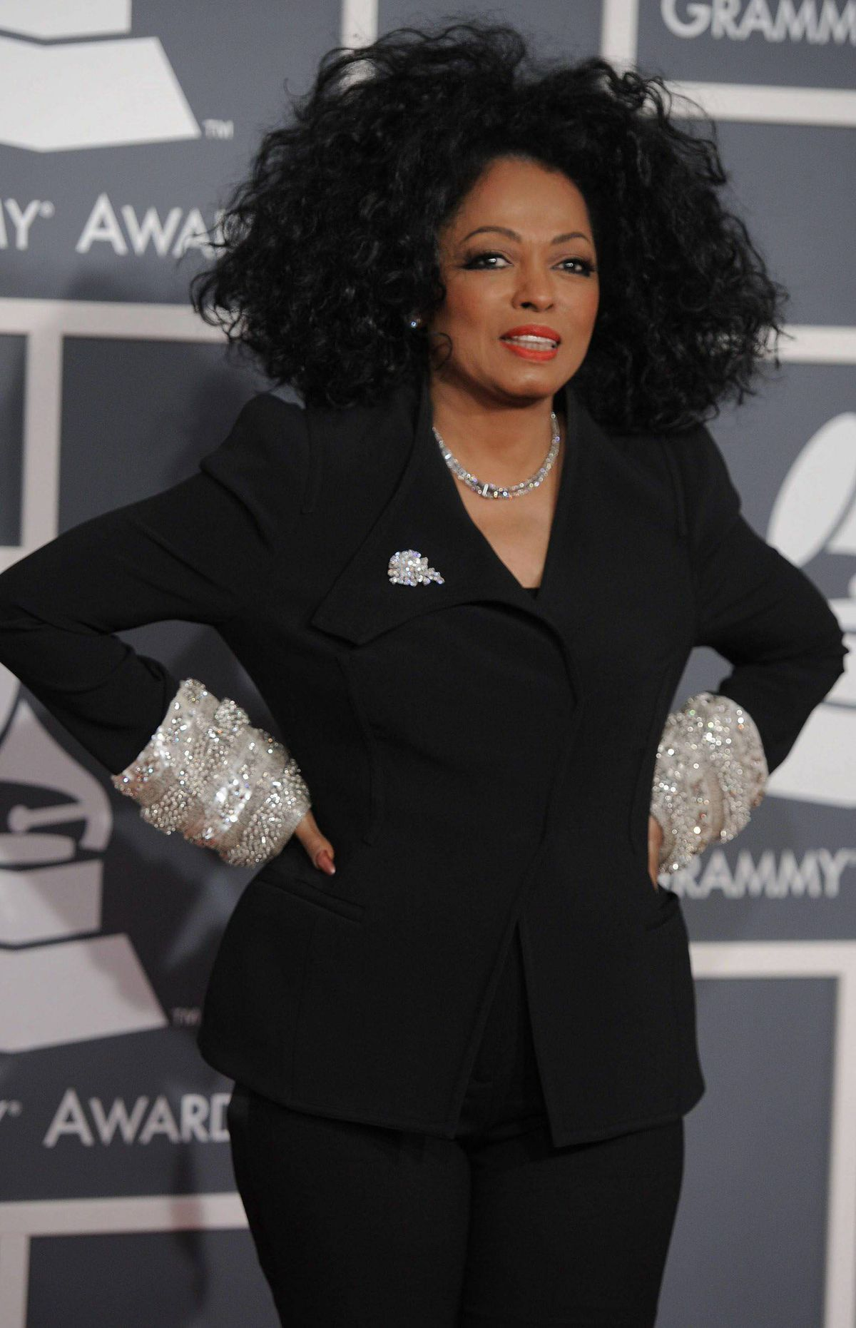 Diana Ross arrives at the 54th annual Grammy Awards on Sunday, Feb. 12, 2012 in Los Angeles.