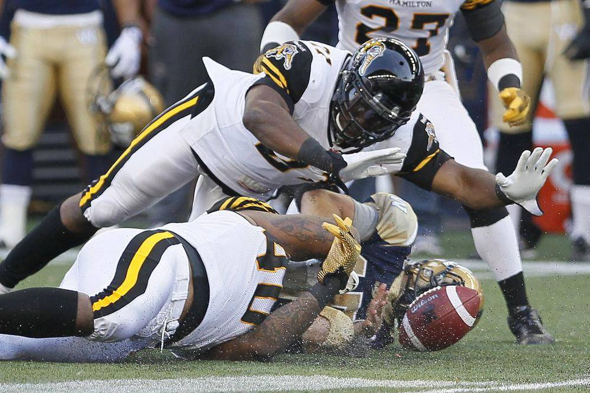 Ticats Pounce On Bombers The Globe And Mail