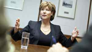 B.C. Premier Christy Clark speaks to The Globe and Mail's editorial board in Toronto on June 24, 2011.